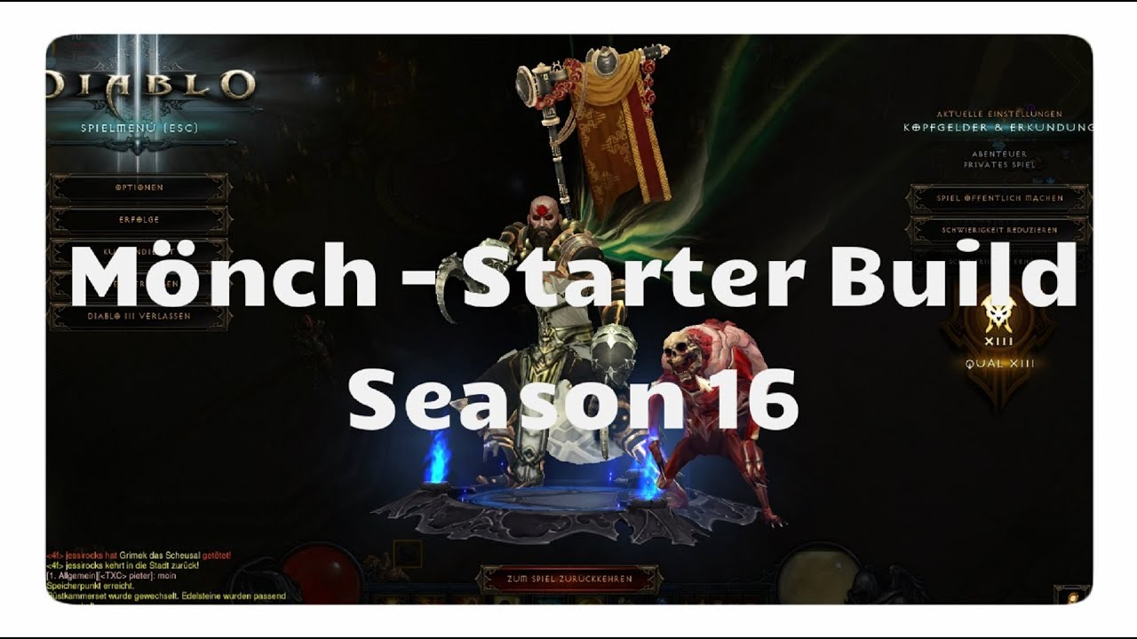 Diablo 3: Mönch Starter Build (Season 16, Patch 2.6.4)