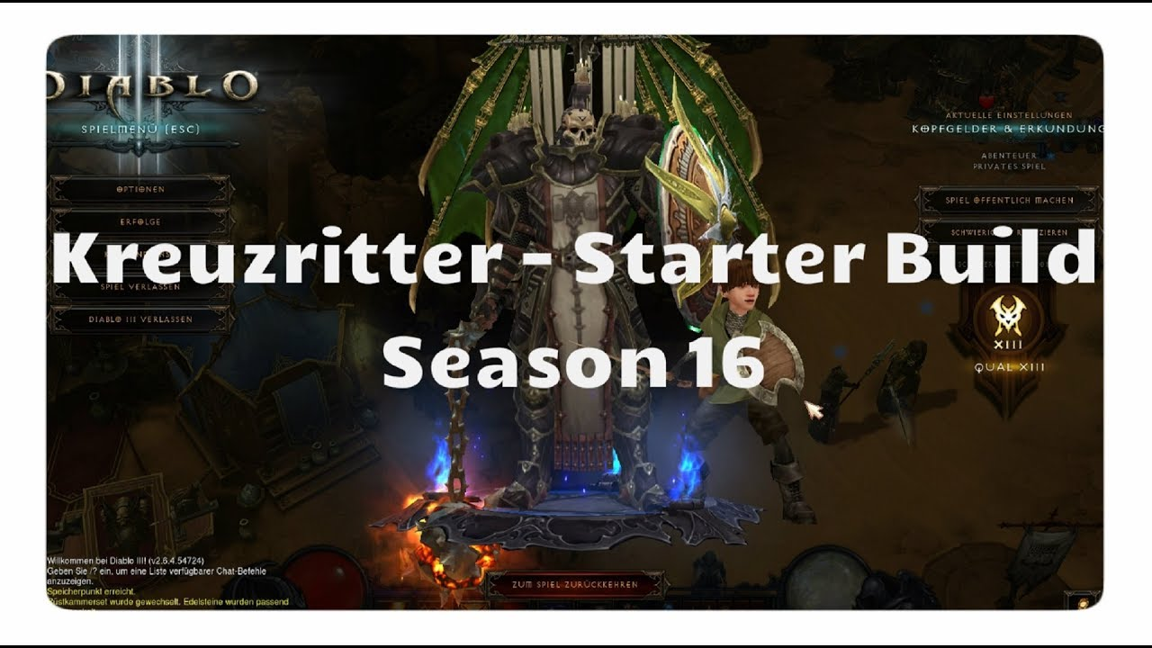 Diablo 3: Kreuzritter Starter Build (Season 16, Patch 2.6.4)