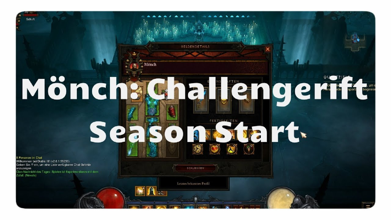 Diablo 3: Challenge Rift zum Season-Start (Mönch)